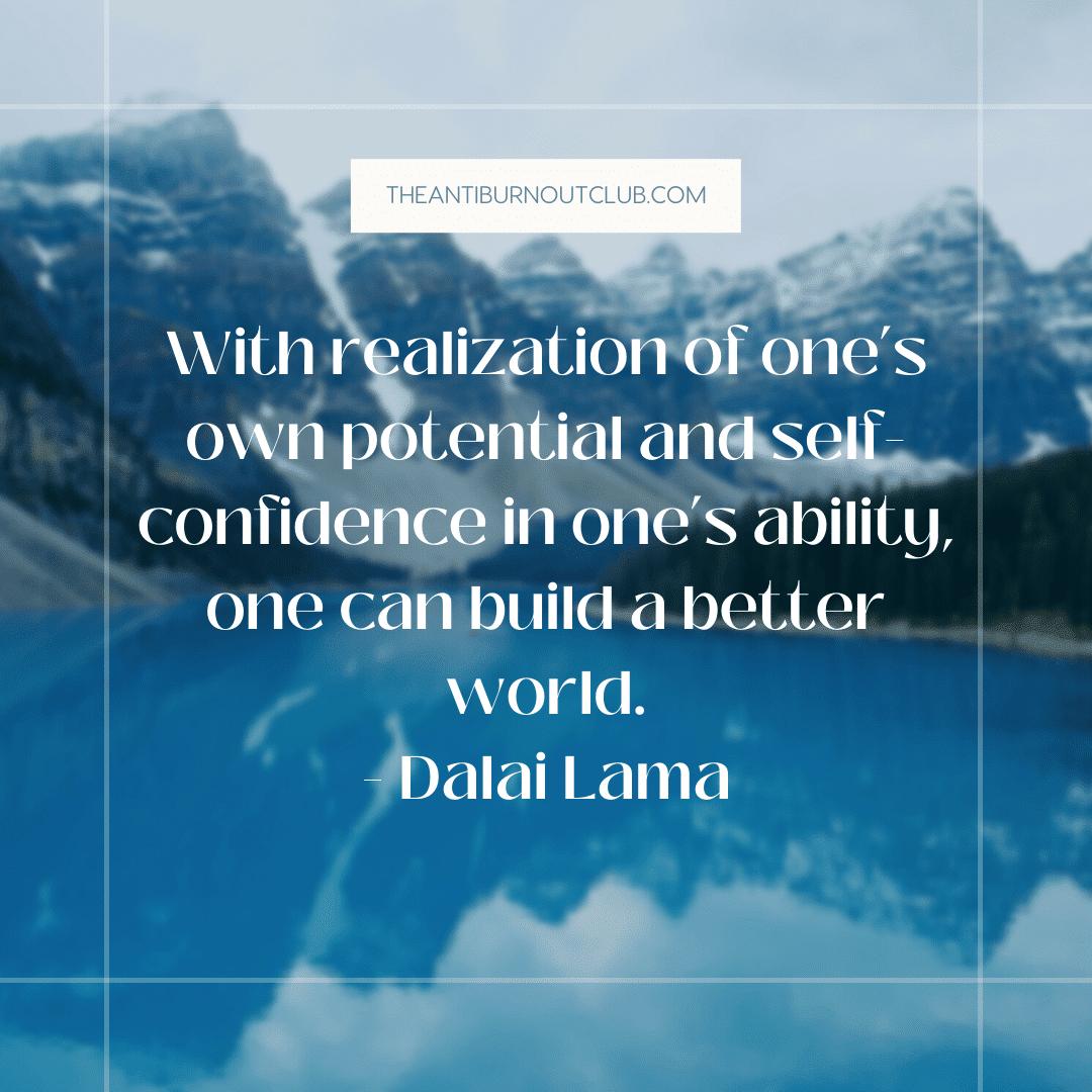 Dalai Lama confidence-boosting quote