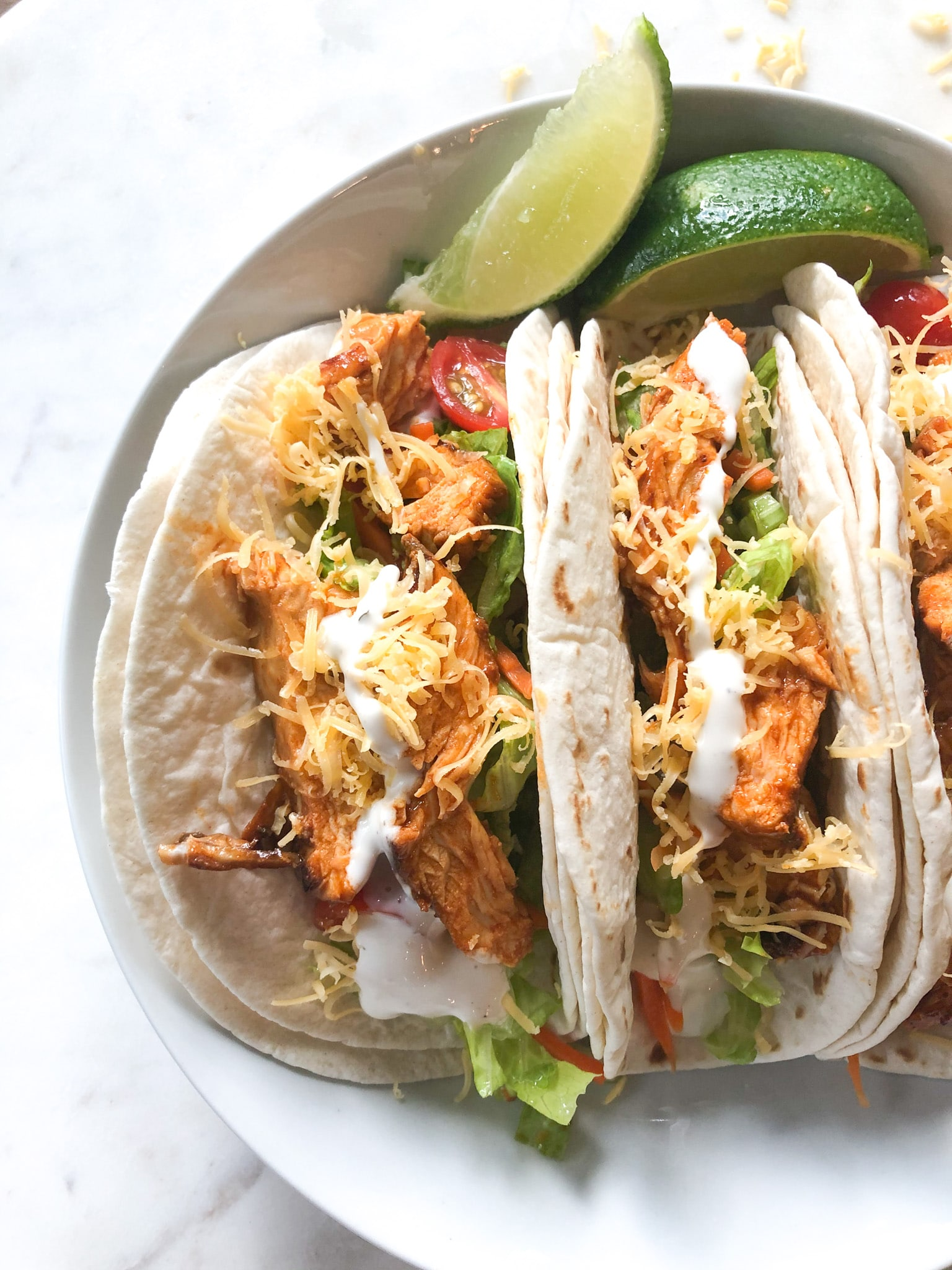 Quick healthy dinners - Buffalo Chicken Tacos